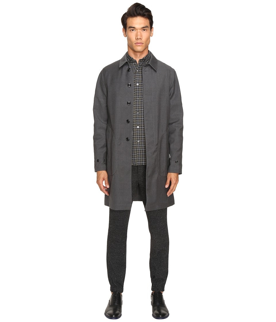 Todd Snyder - Double Face Trench (Grey) Men's Coat