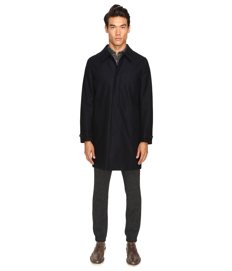 Todd Snyder - Tech Wool Top Coat (Navy) Men's Coat