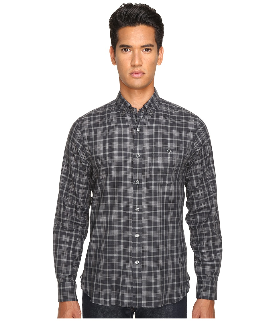 Todd Snyder - Italian Small Check Button-Up (Black/Grey) Men's Clothing
