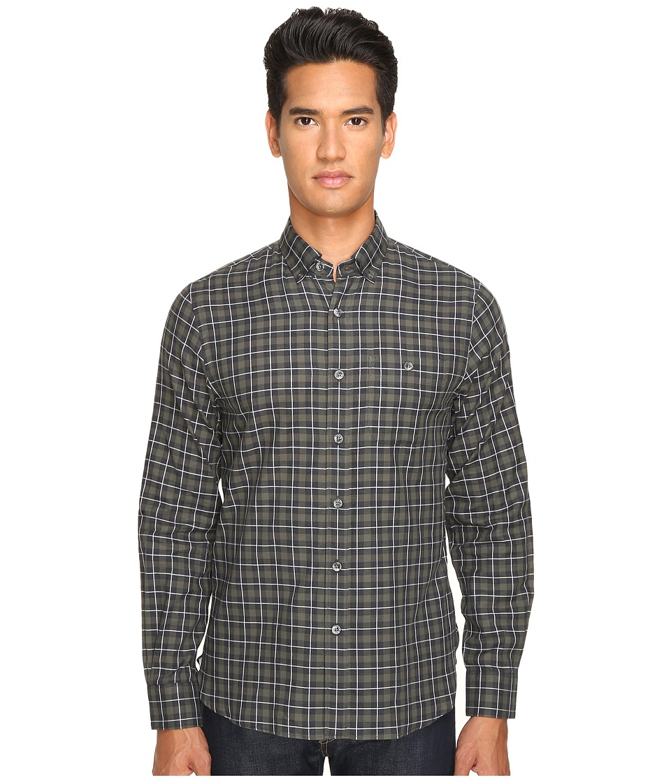 Todd Snyder - Italian Heather Check Button-Up (Green/Grey) Men's Clothing