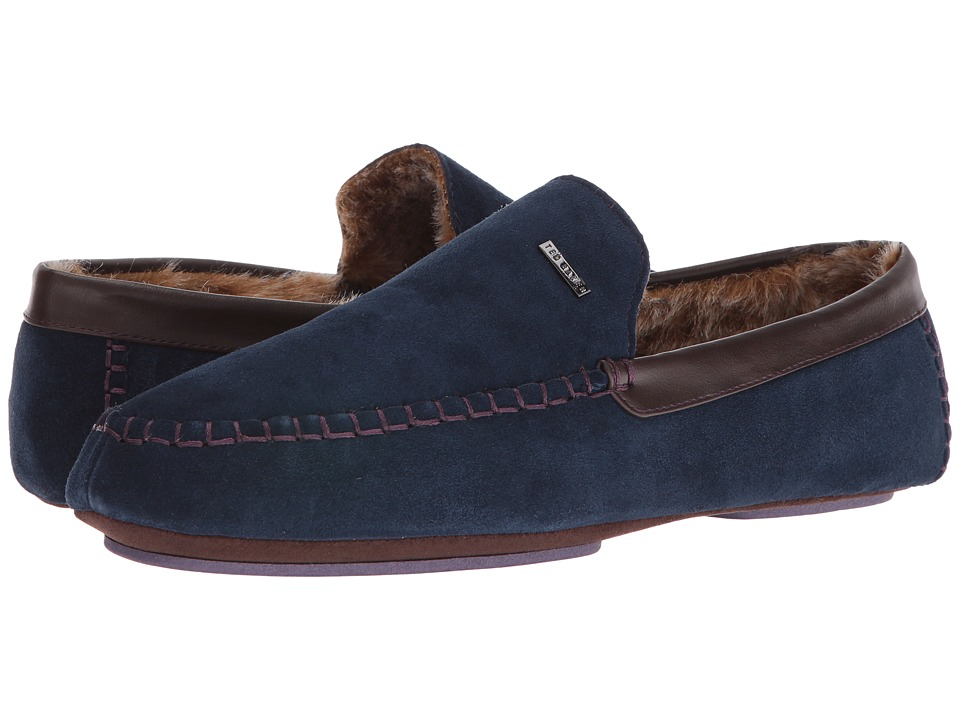 Ted Baker - Moriss (Dark Blue Suede) Men's Slip on Shoes