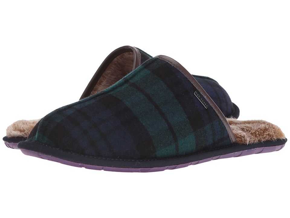 Ted Baker - Youngi (Dark Green/Dark Blue Textile) Men's Slippers
