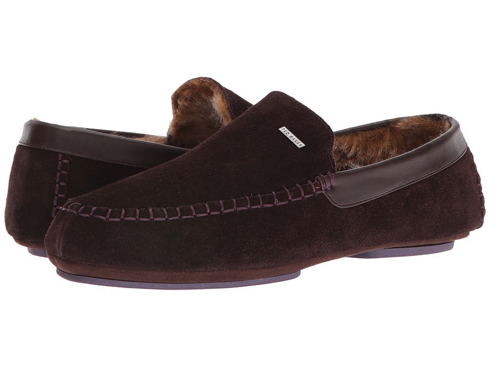 Ted Baker - Moriss (Brown Suede) Men's Slip on Shoes