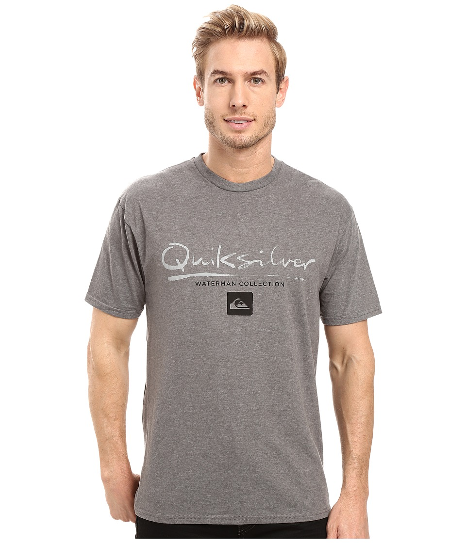 Quiksilver Waterman - Gut Check T-Shirt (Gunmetal Heather) Men's Clothing