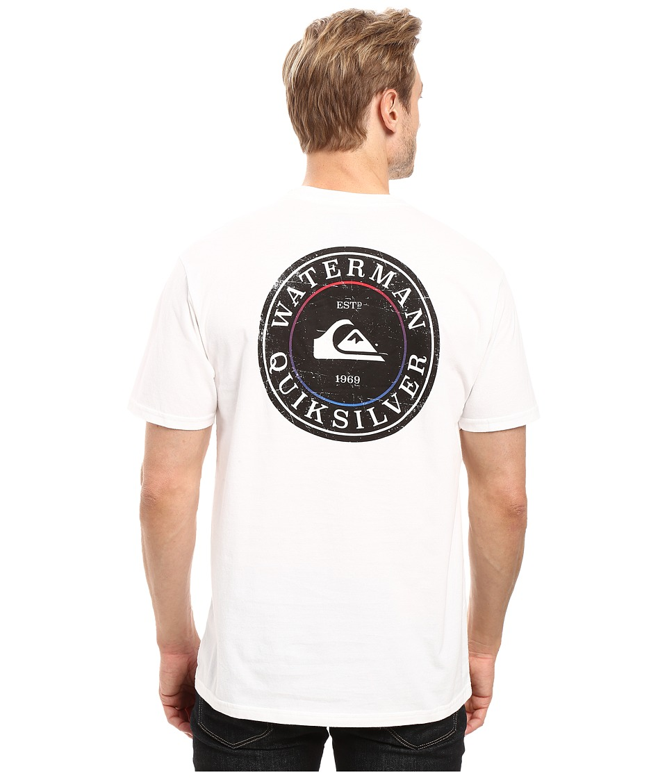 Quiksilver Waterman - Stamp It Tee (White) Men's T Shirt