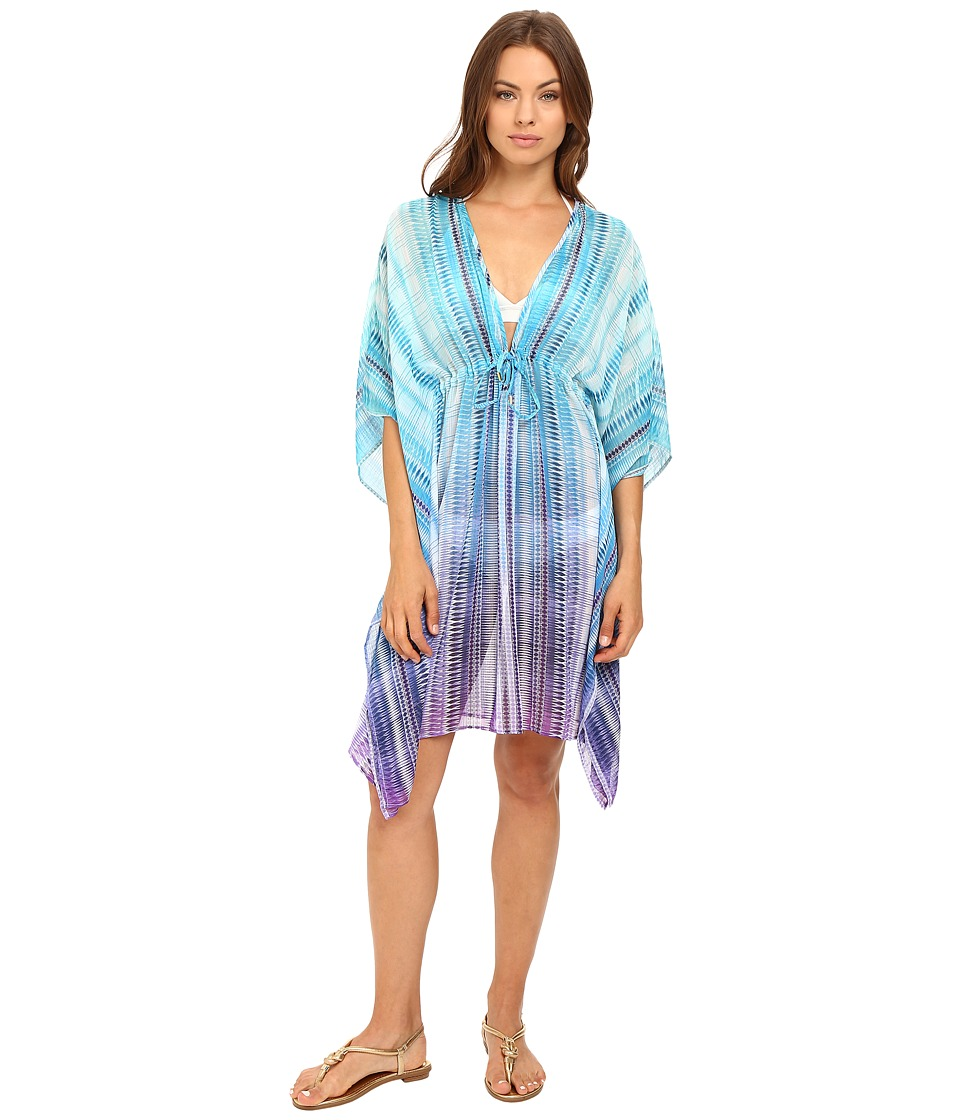 Bleu Rod Beattie - Desert Heat Caftan Cover-Up (Bleu Multi) Women's Swimwear