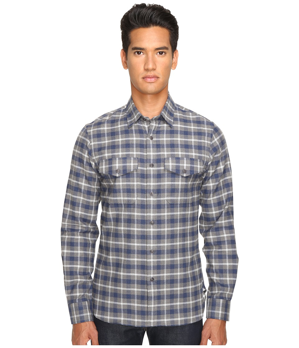Todd Snyder - Grey Flap Pocket Shirt Jacket (Grey) Men's Coat