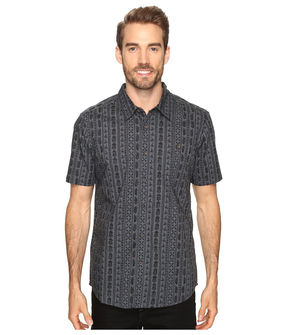 Quiksilver Waterman - Panacea (Dark Slate) Men's Short Sleeve Button Up