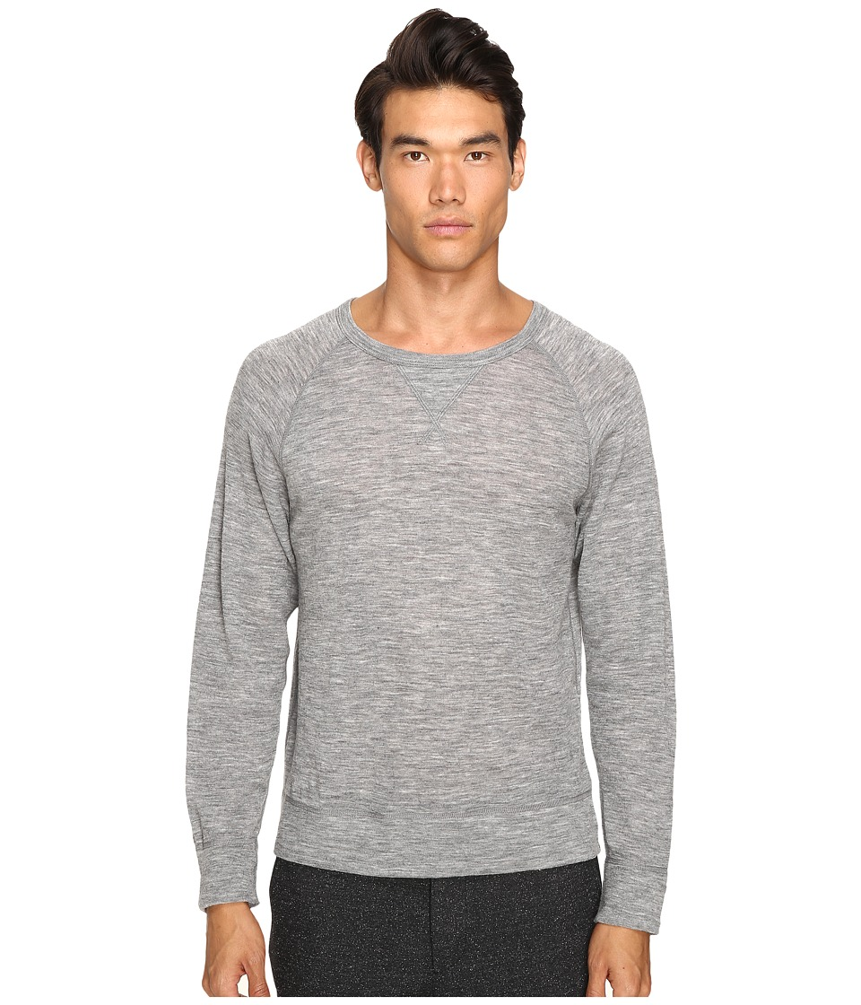 Todd Snyder - Wool Rib Raglan (Light Grey Heather) Men's Sweatshirt