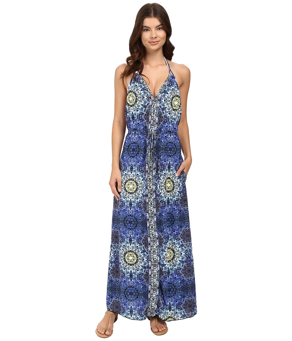 Red Carter - Polaris Halter Long Dress Cover-Up (Navy Multi) Women's Swimwear