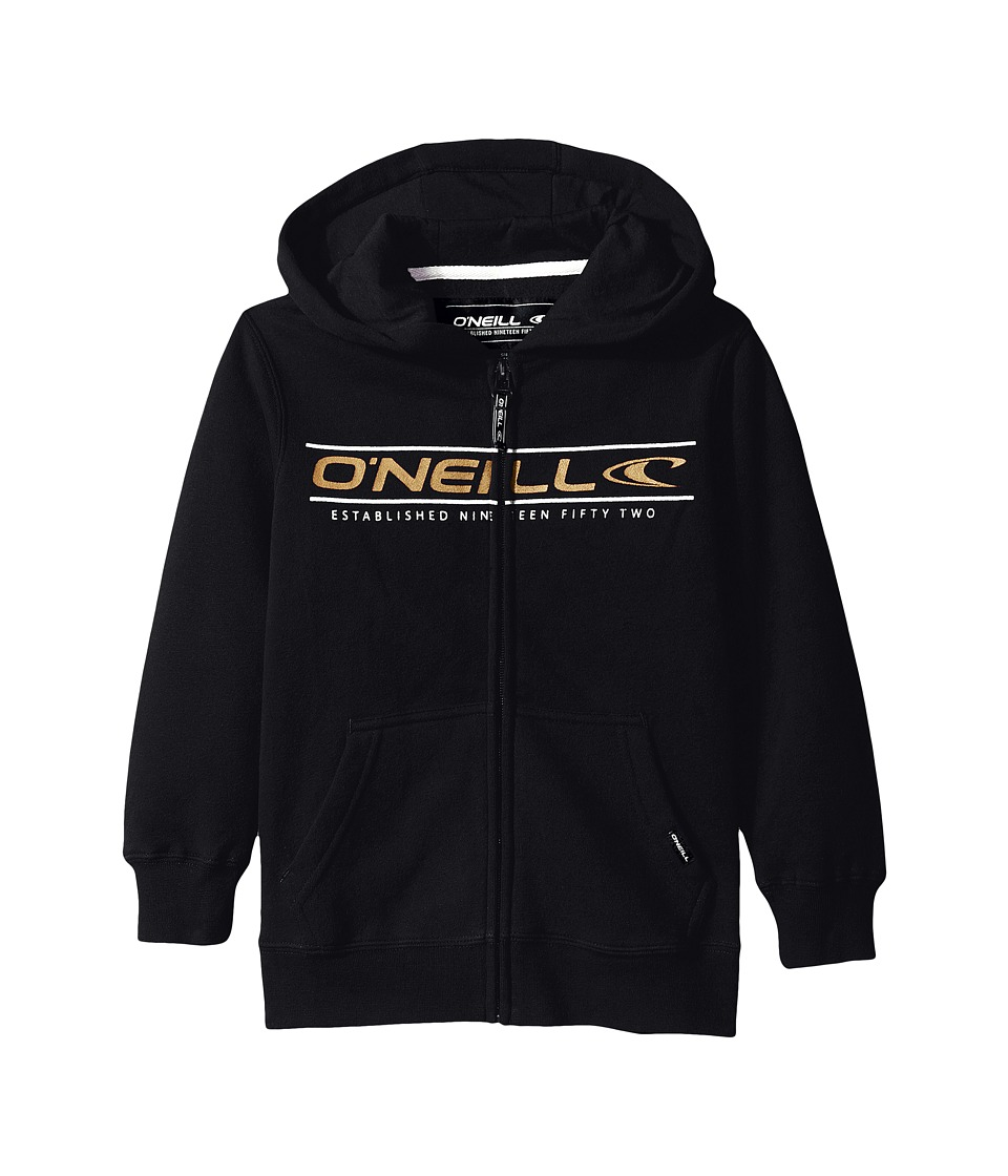 O'Neill Kids - Collect Zip Sweatshirt (Little Kids) (Black) Boy's Sweatshirt