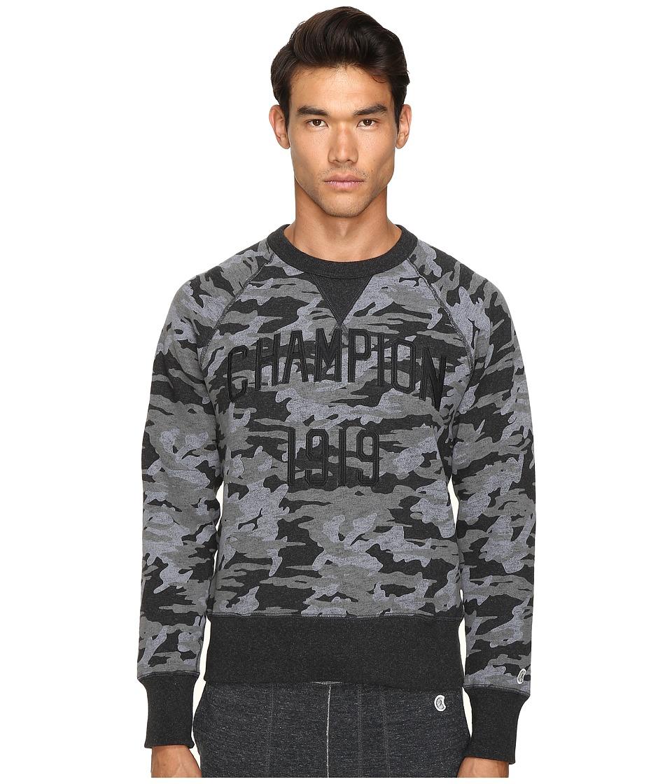 Todd Snyder + Champion - Camo Print Sweatshirt (Faded Black) Men's Sweatshirt
