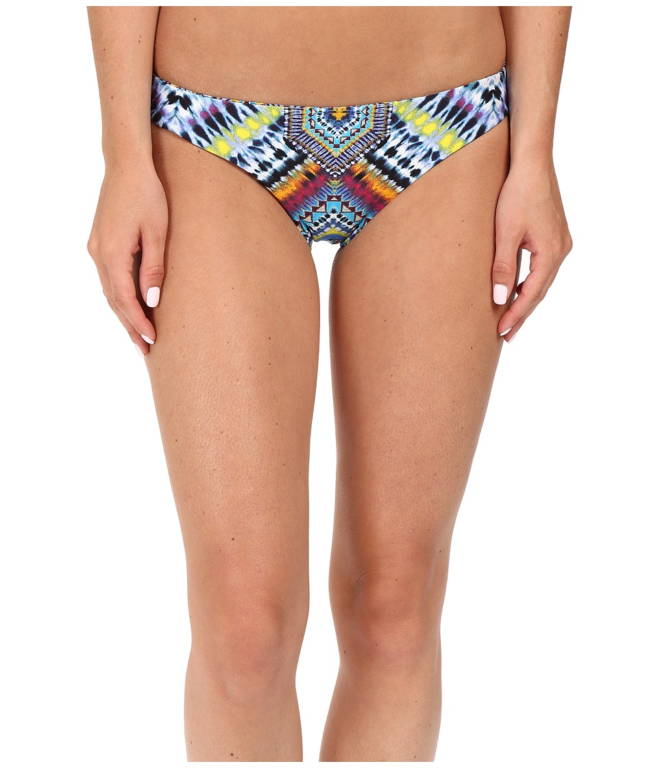 Red Carter Beach Babe Reversible Classic Hipster Bottoms (Azure Multi) Women