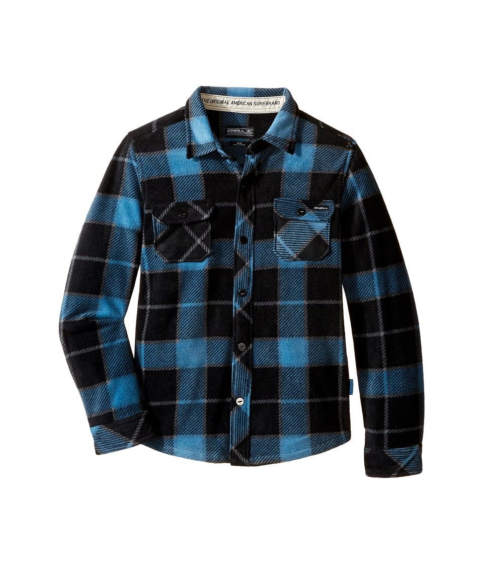 O'Neill Kids - Glacier Big Plaid Long Sleeve Shirt (Little Kids) (Black) Boy's Long Sleeve Pullover