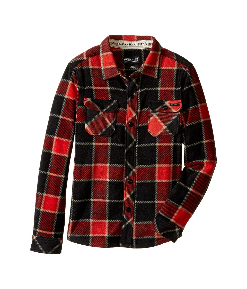 O'Neill Kids - Glacier Big Plaid Long Sleeve Shirt (Little Kids) (Red) Boy's Long Sleeve Pullover