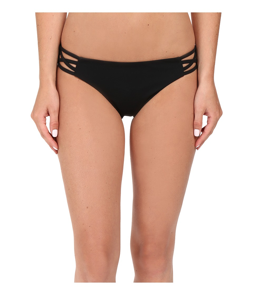 Red Carter Splice Dice Side Cut Out Classic Hipster Bottoms (Black) Women