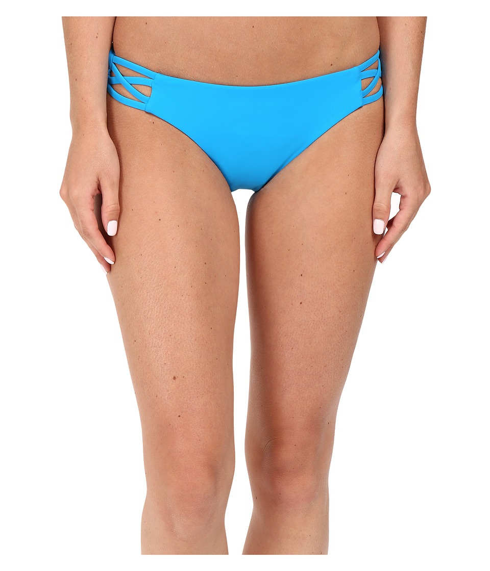 Red Carter Splice Dice Side Cut Out Classic Hipster Bottoms (Azure) Women