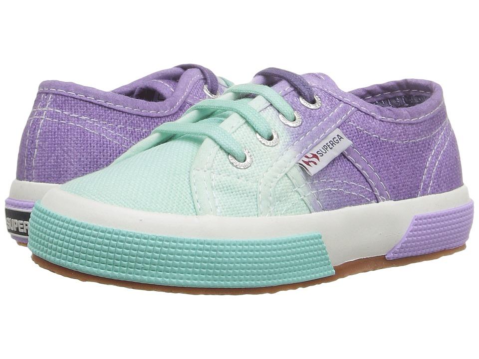 Superga Kids 2750 COTJ Shade (Infant/Toddler/Little Kid/Big Kid)) (Teal/Violet) Girls Shoes