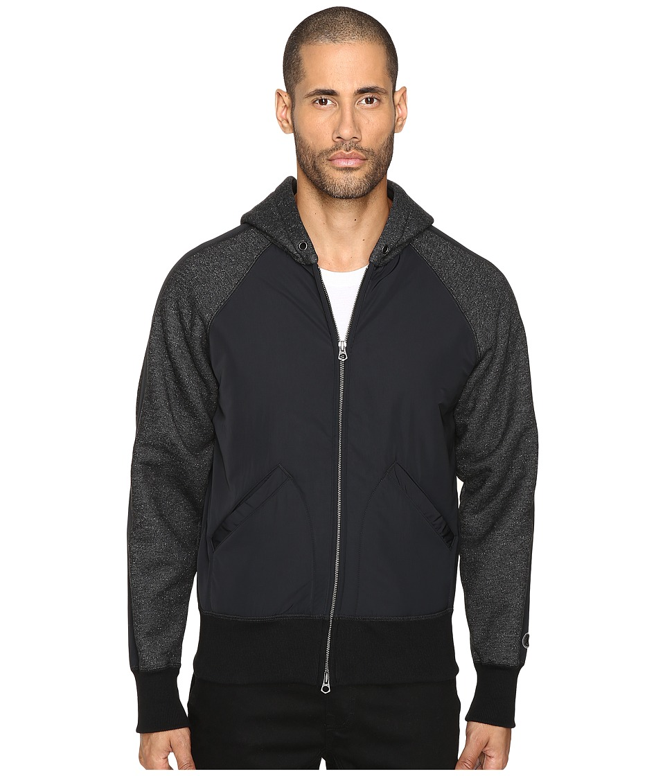 Todd Snyder + Champion - Full Zip Hoodie (Black Mix) Men's Sweatshirt
