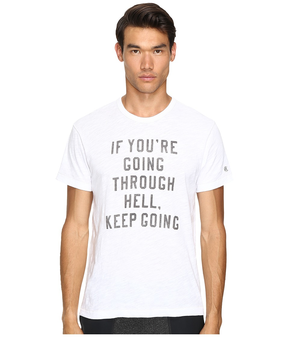 Todd Snyder + Champion - Going Through Hell Tee (White) Men's T Shirt