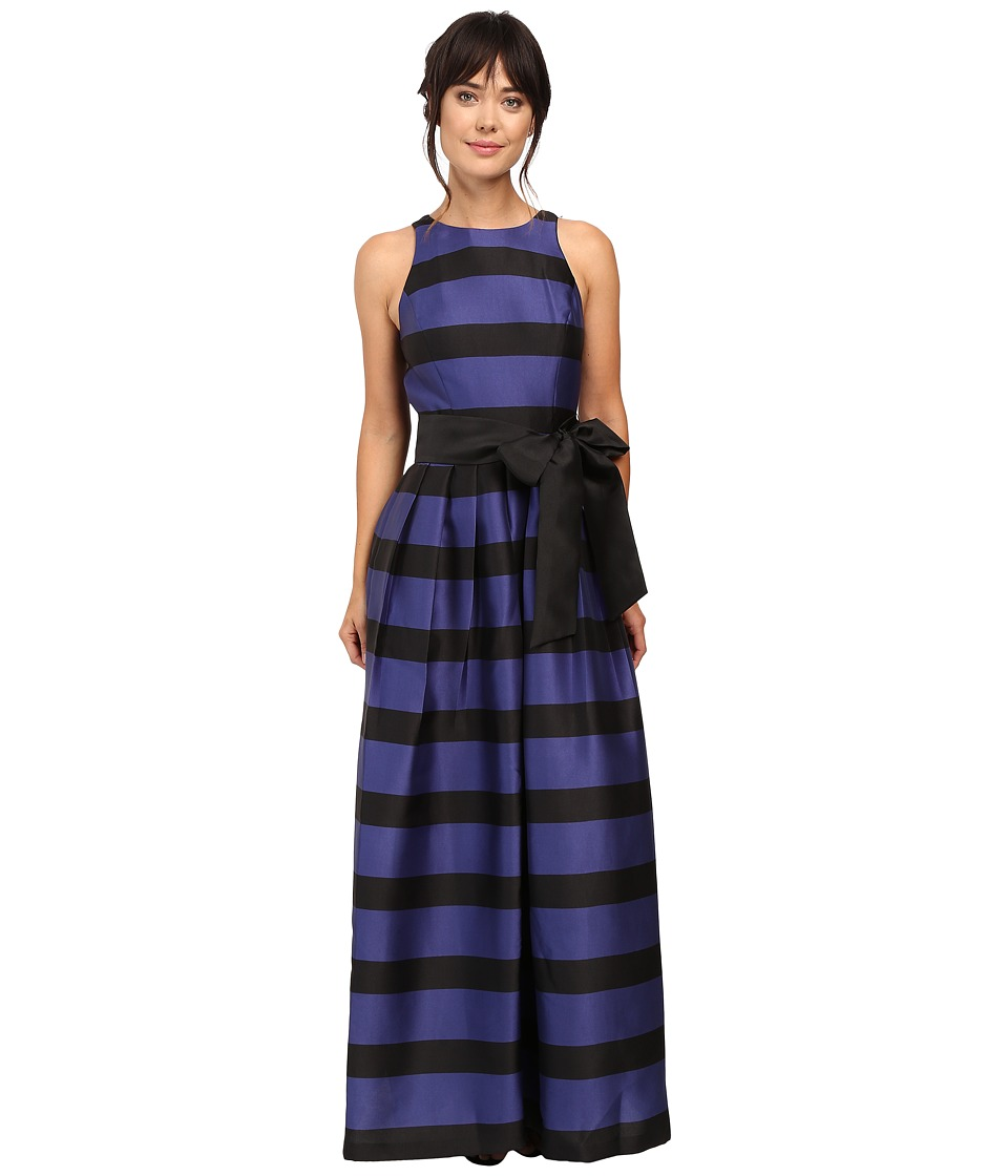 Tahari by ASL - Stripe Ball Gown (Navy/Black) Women's Dress