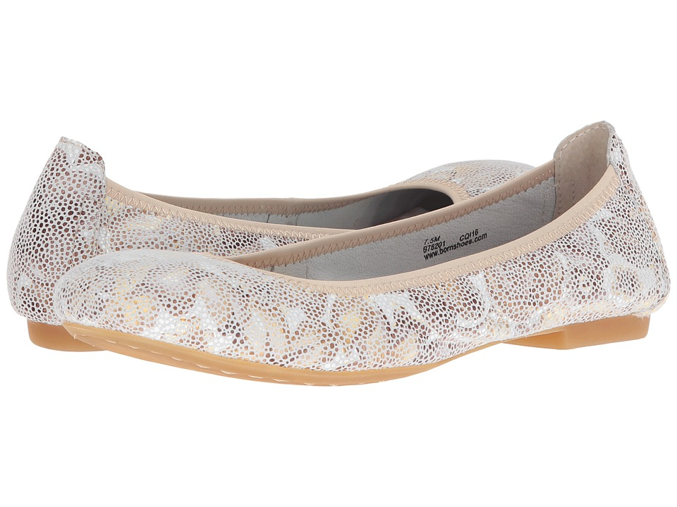Born - Julianne (White/Gold Multi) Women's Flat Shoes