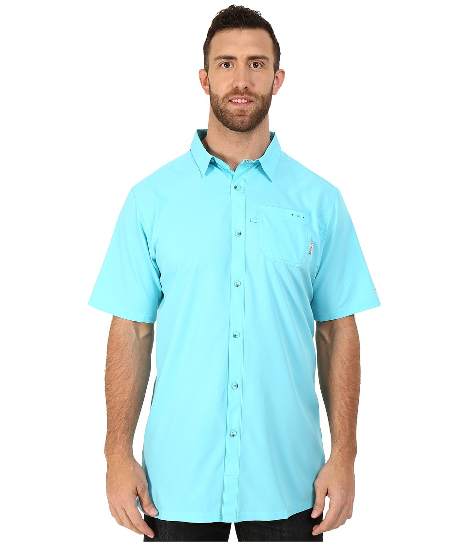 Columbia - Slack Tide Camp Shirt - Tall (Opal Blue) Men's Short Sleeve Button Up