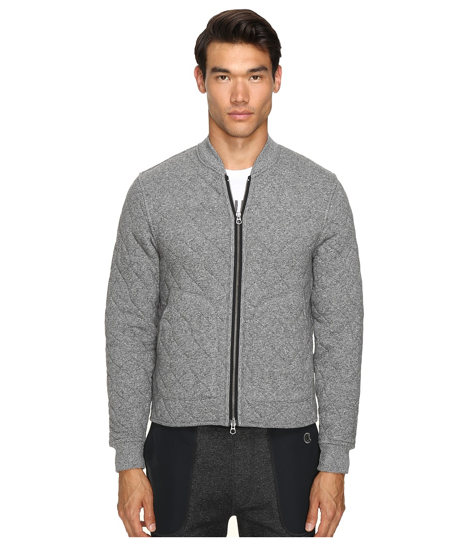 Todd Snyder + Champion - Quilted Bomber Jacket (Salt/Pepper) Men's Coat