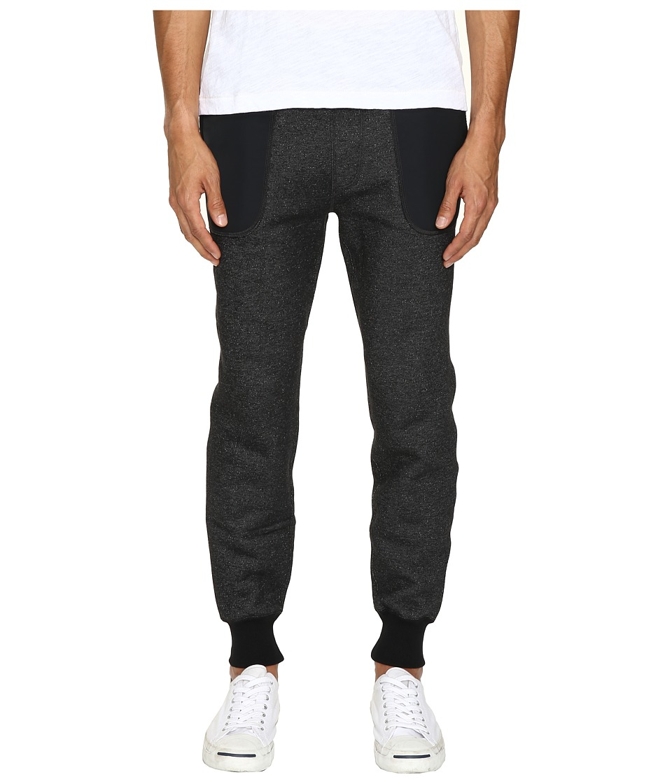 Todd Snyder + Champion - Slim Warm-Up Sweatpants (Black Mix) Men's Dress Pants