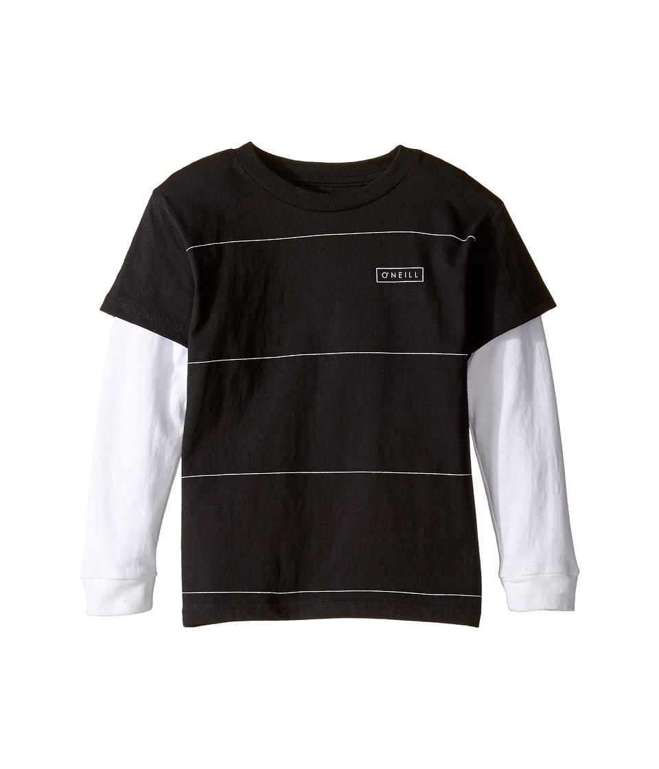 O'Neill Kids - Striped Twofer Long Sleeve Shirt (Big Kids) (Black/White) Boy's Clothing