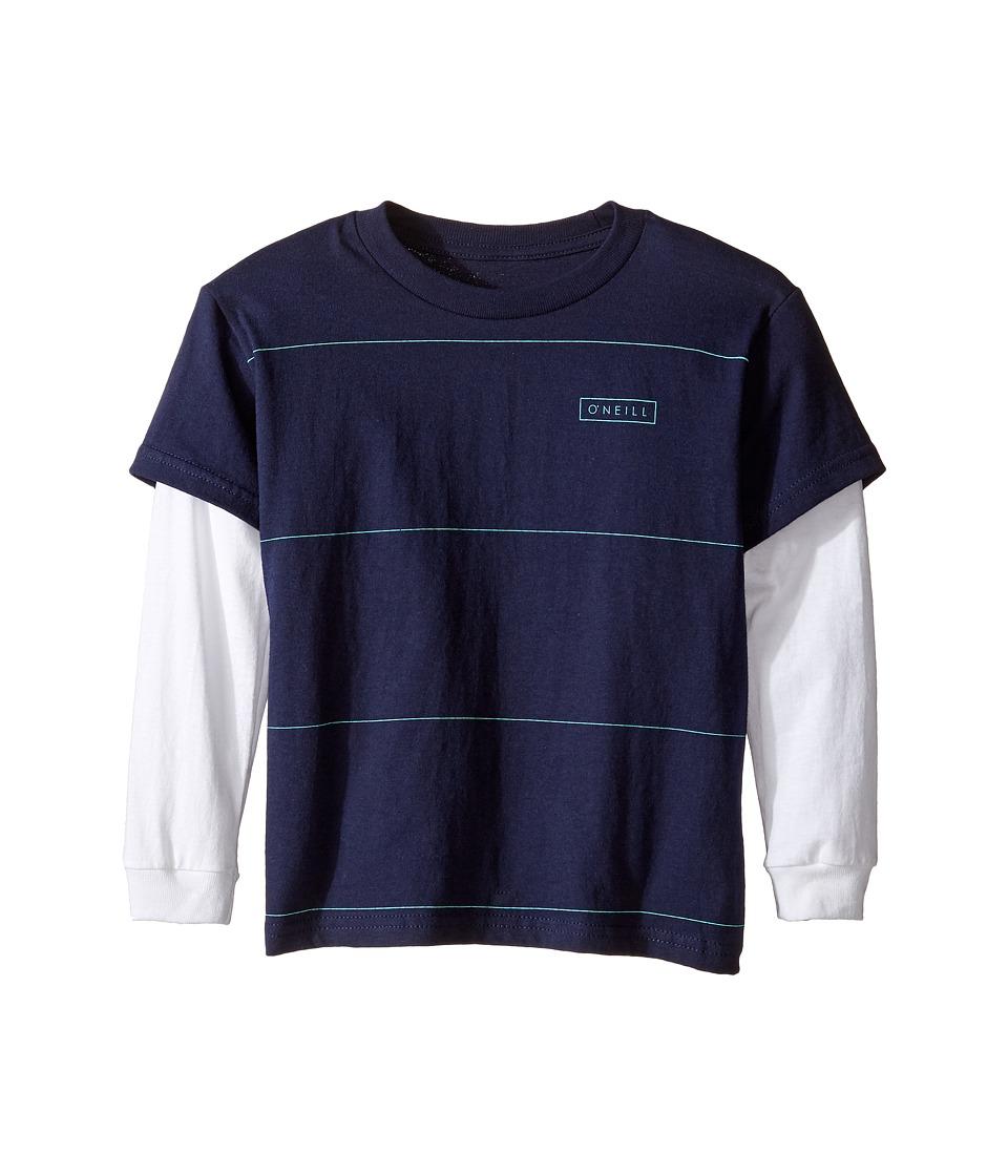 O'Neill Kids - Striped Twofer Long Sleeve Shirt (Big Kids) (Navy/White) Boy's Clothing