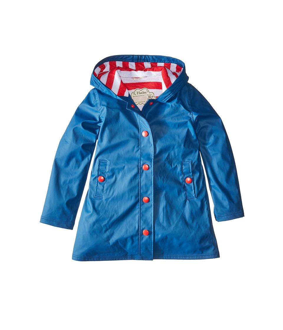 Hatley Kids - Splash Jacket (Toddler/Little Kids/Big Kids) (Blue) Girl's Coat