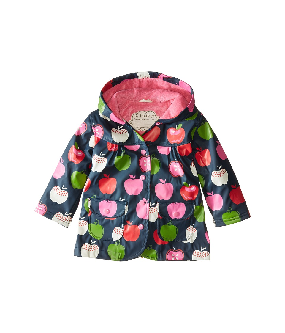 Hatley Kids - Nordic Apples Raincoat (Toddler/Little Kids/Big Kids) (Blue) Girl's Coat