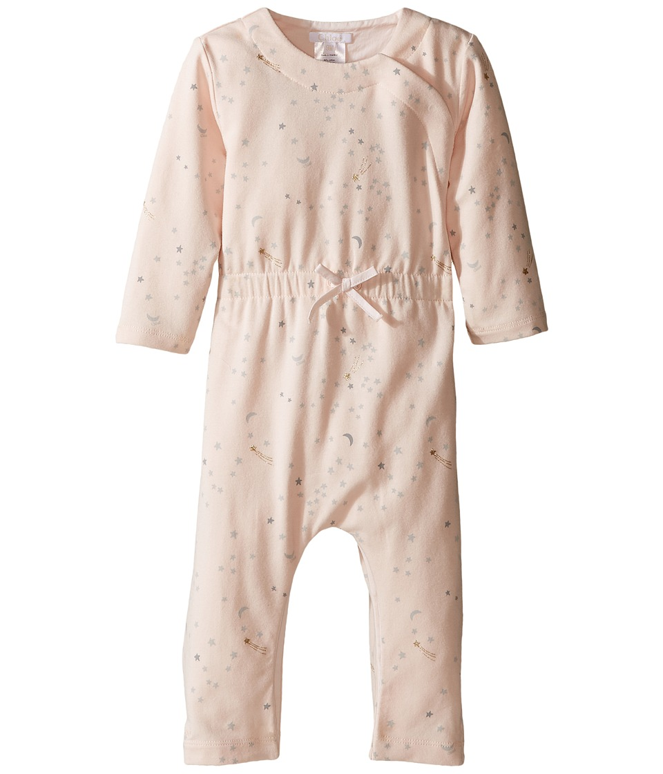Chloe Kids - All Over Chic Stars Printed Bodysuit (Infant) (Rose) Girl's Jumpsuit & Rompers One Piece