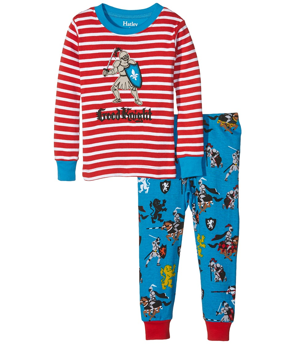 Hatley Kids - Good Knight Pajama Set (Toddler/Little Kids/Big Kids) (Red) Boy's Pajama Sets