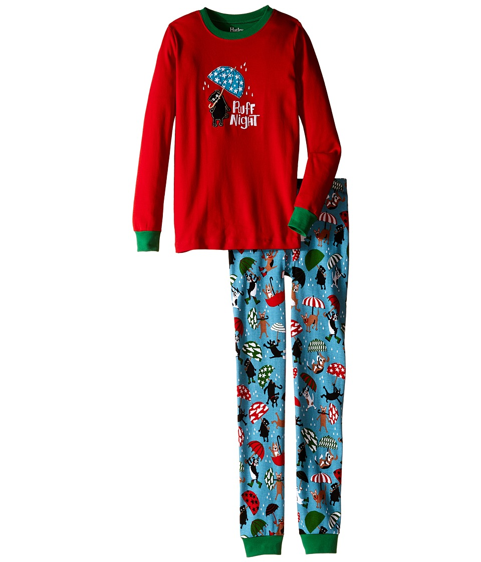 Hatley Kids - Ruff Night Pajama Set (Toddler/Little Kids/Big Kids) (Red) Boy's Pajama Sets