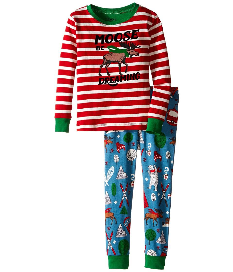 Hatley Kids - Moose Be Dreaming Pajama Set (Toddler/Little Kids/Big Kids) (Red) Boy's Pajama Sets