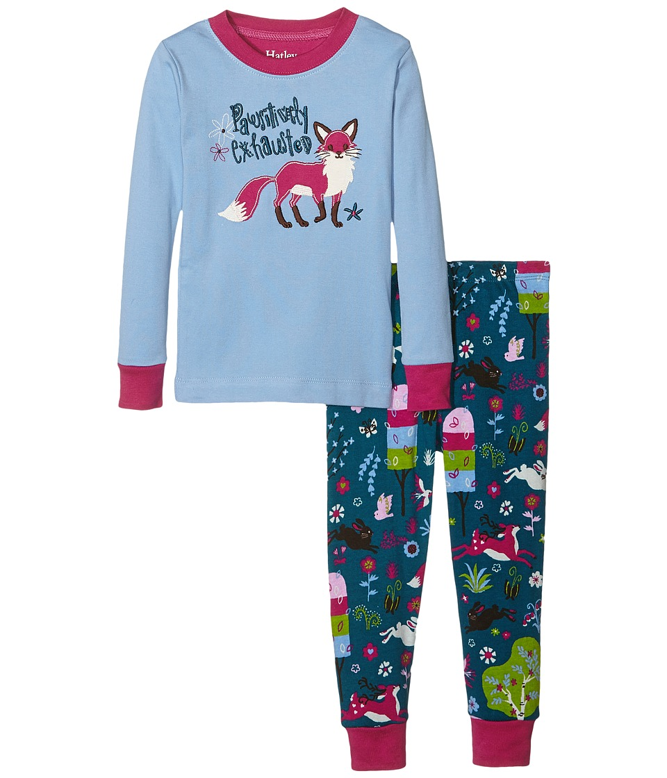 Hatley Kids - Pawsitively Exhausted Pajama Set (Toddler/Little Kids/Big Kids) (Blue) Girl's Pajama Sets