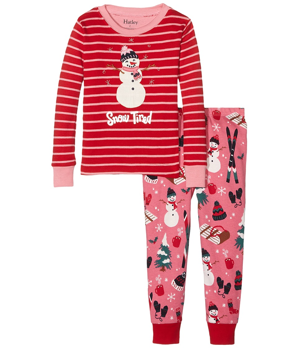 Hatley Kids - Snow Tired Pajama Set (Toddler/Little Kids/Big Kids) (Red) Girl's Pajama Sets