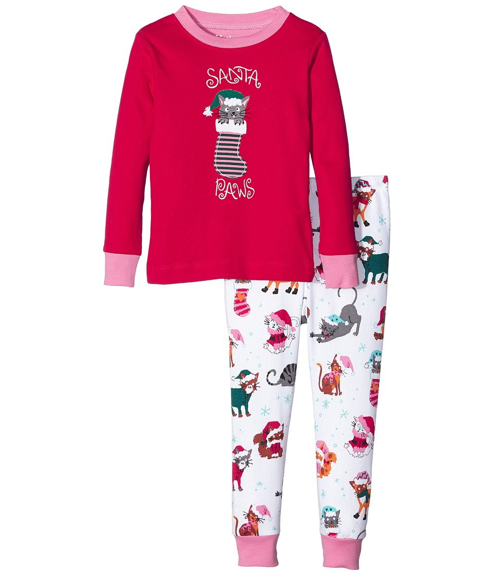 Hatley Kids - Santa Paws Pajama Set (Toddler/Little Kids/Big Kids) (Red) Girl's Pajama Sets