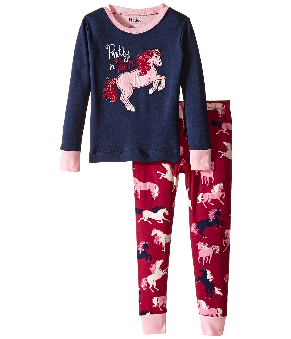 Hatley Kids - Pretty in Pink Pajama Set (Toddler/Little Kids/Big Kids) (Blue) Girl's Pajama Sets