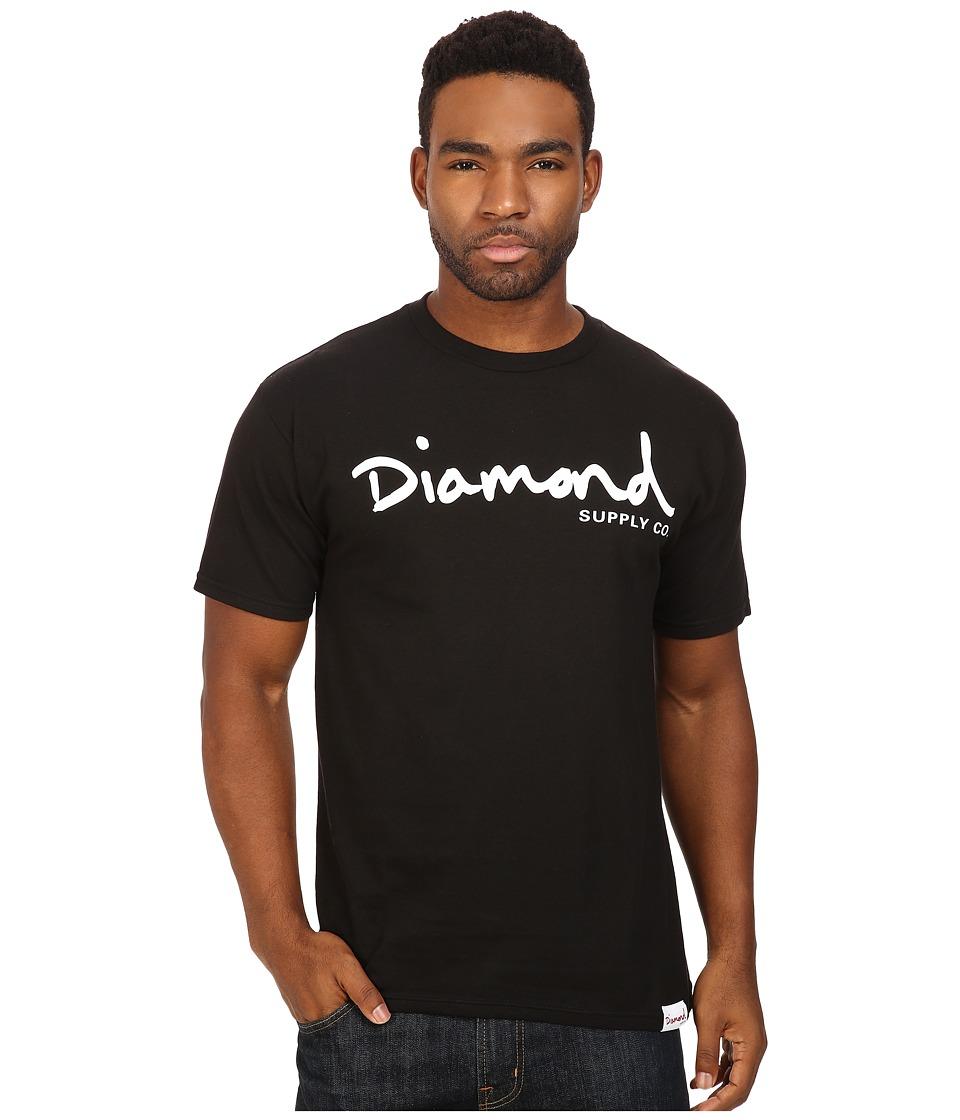 Diamond Supply Co. - OG Script Tee (Black 1) Men's T Shirt