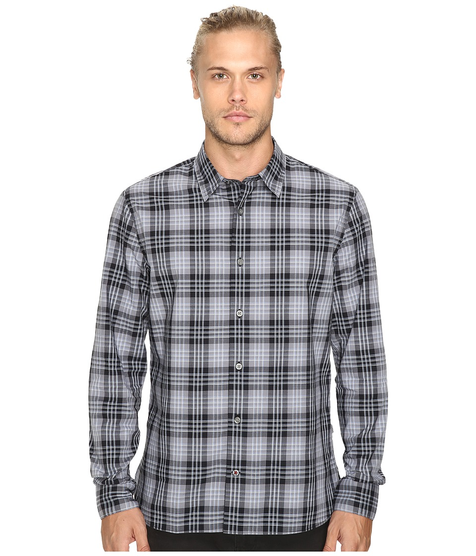 John Varvatos Star U.S.A. - Basic Point Collar Sport Shirt W184S3B (Coal) Men's Clothing
