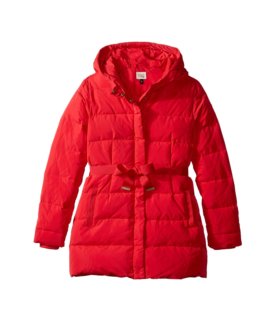 Armani Junior - Puffer with Bow (Toddler/Little Kids/Big Kids) (Red) Girl's Coat