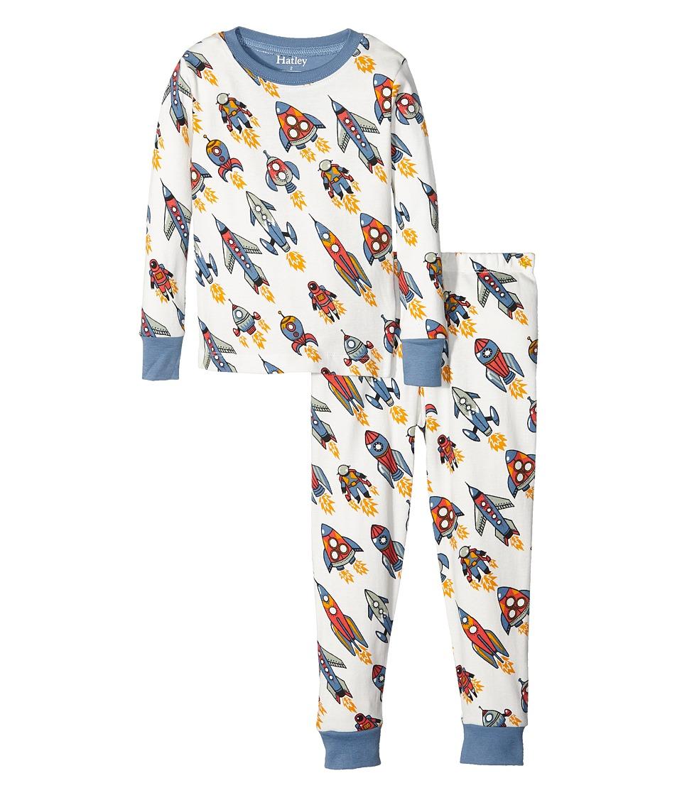 Hatley Kids - Retro Rockets Pajama Set (Toddler/Little Kids/Big Kids) (Natural) Boy's Pajama Sets