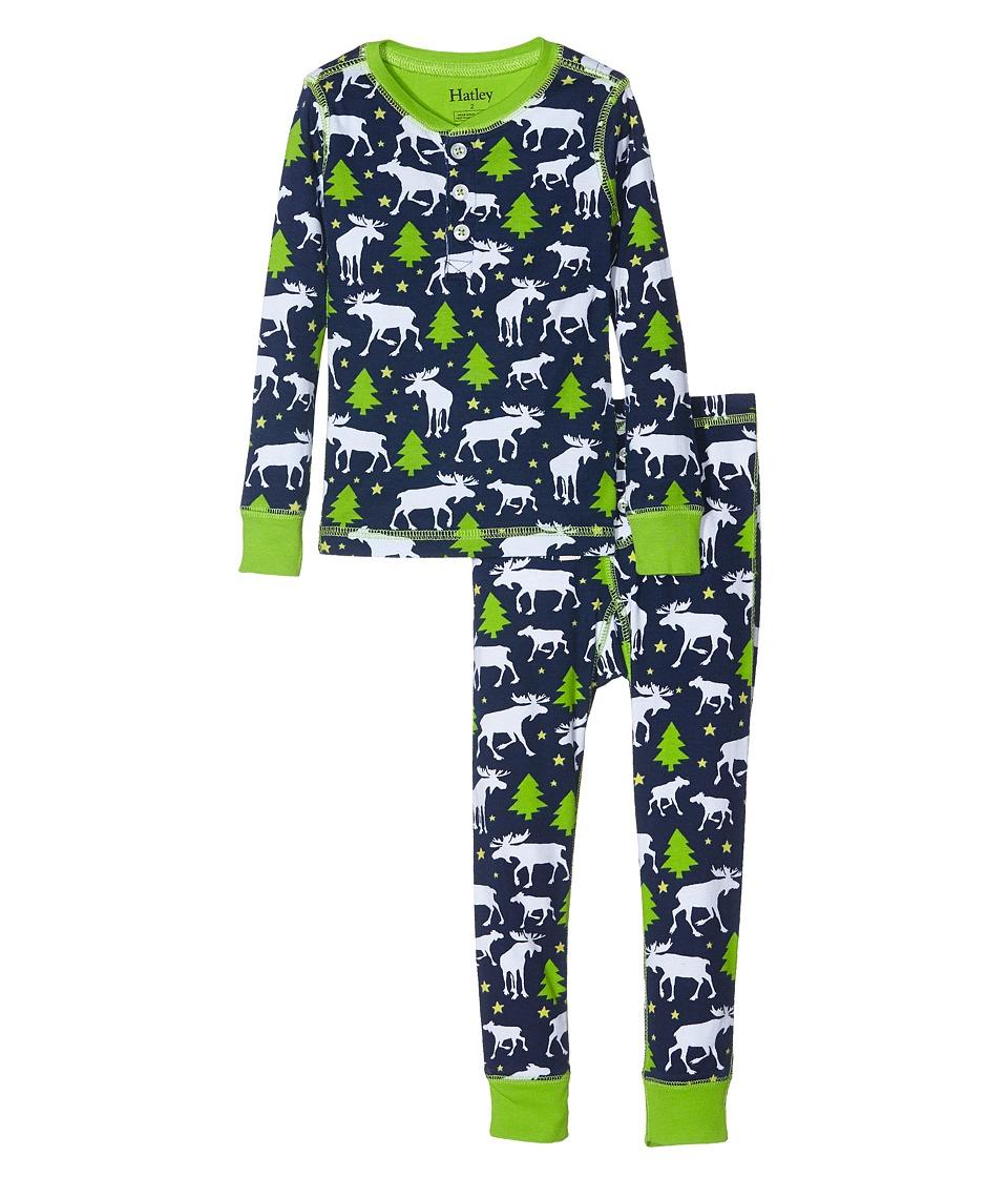 Hatley Kids - Moose Stars Pajama Set (Toddler/Little Kids/Big Kids) (Blue) Boy's Pajama Sets