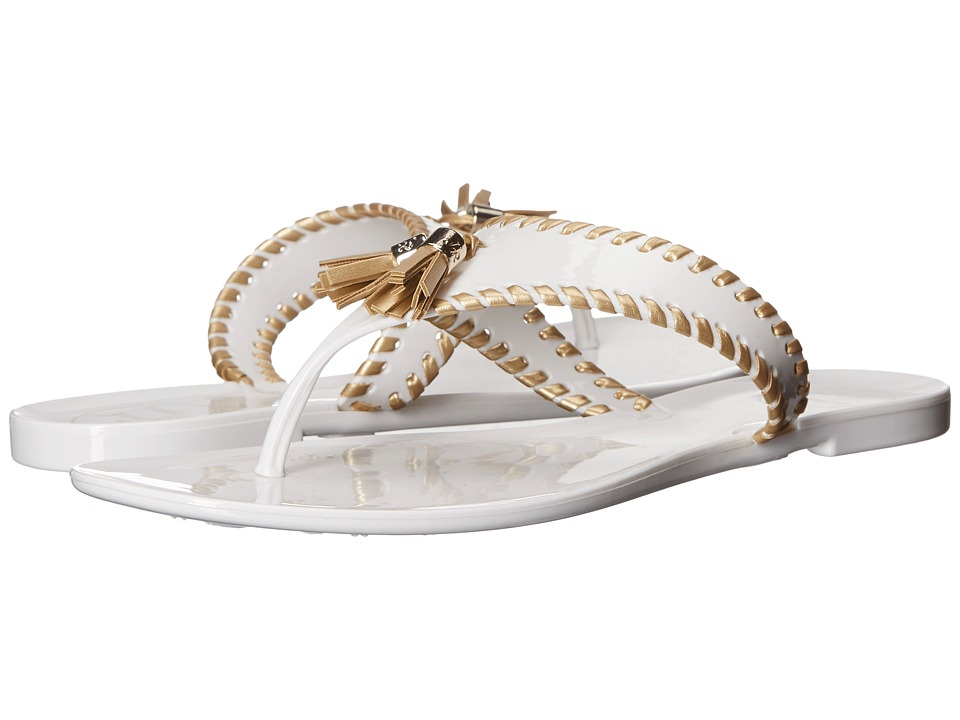 Jack Rogers - Alana Jelly (White/Gold) Women's Sandals