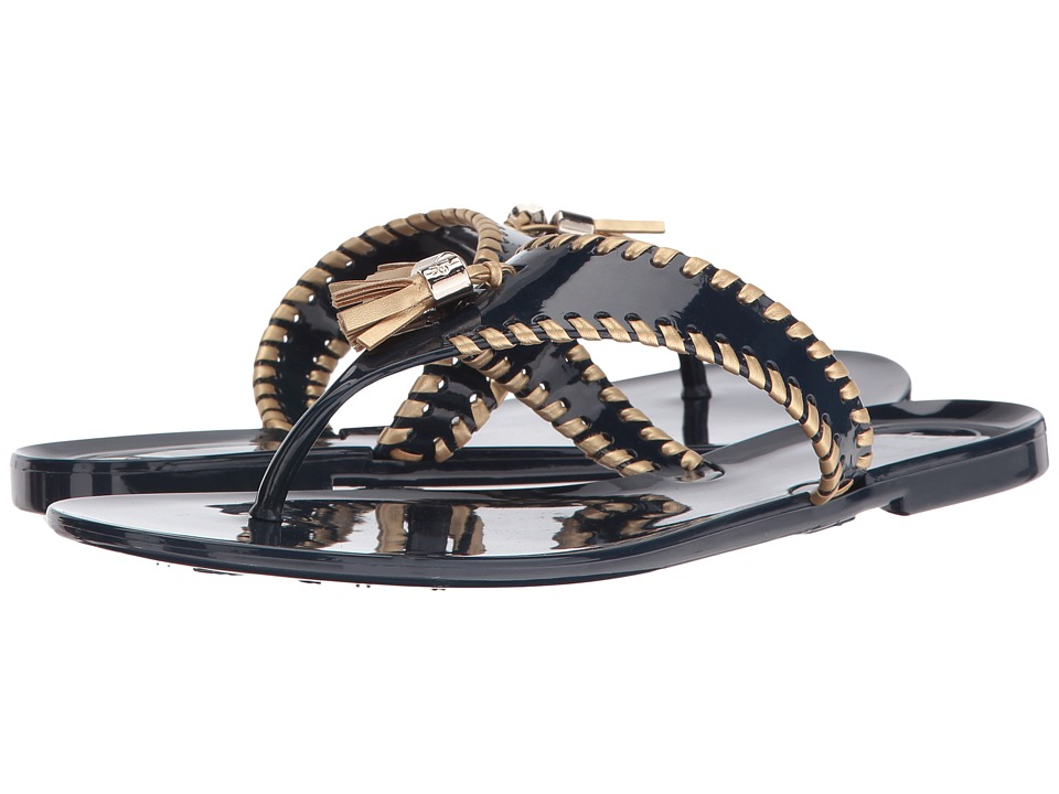 Jack Rogers - Alana Jelly (Midnight/Gold) Women's Sandals