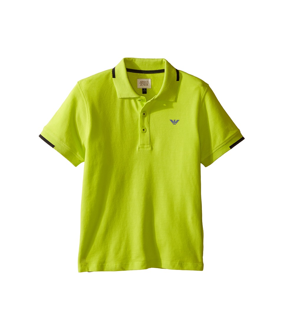 Armani Junior - Classic Polo (Toddler/Little Kids/Big Kids) (Lime) Boy's Clothing