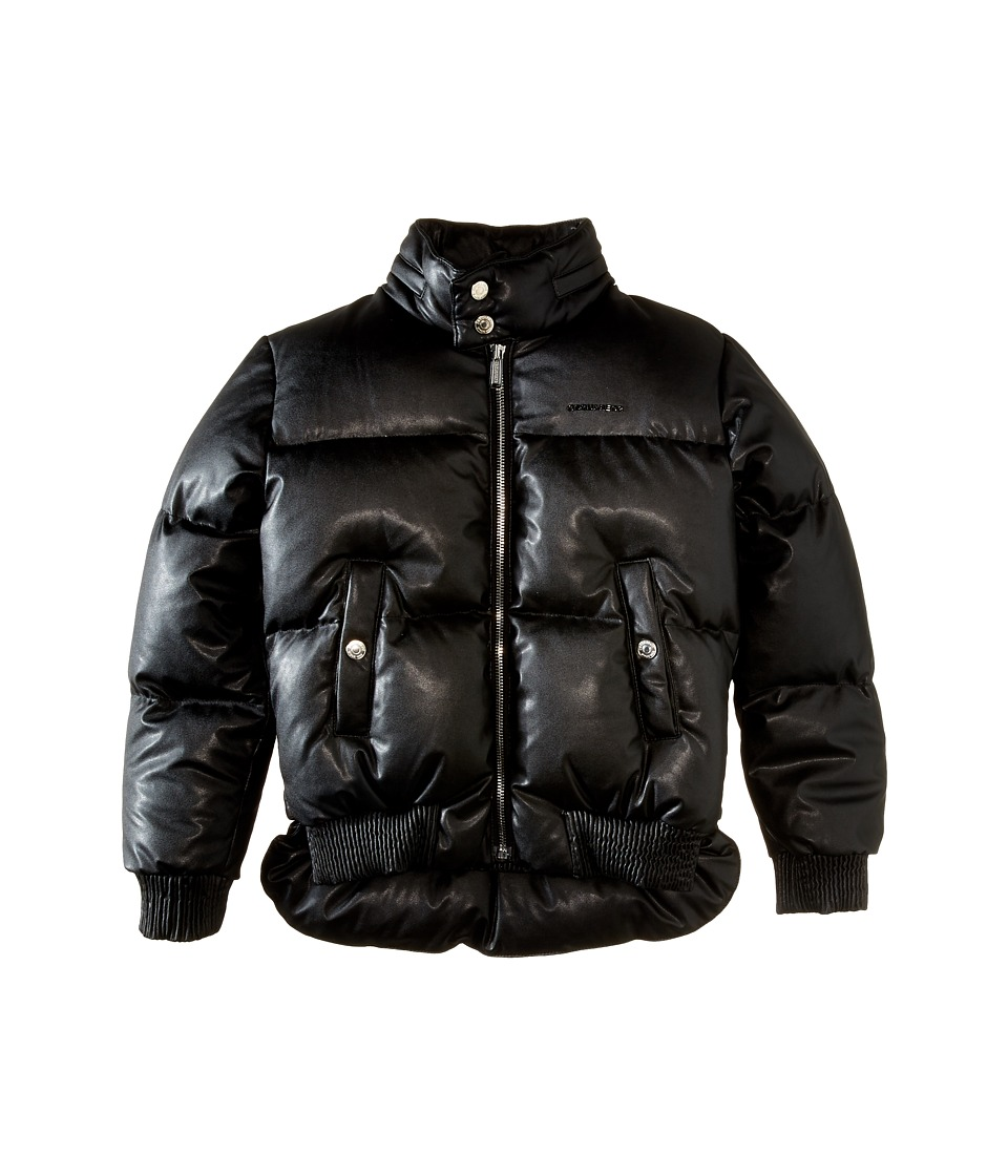 Dsquared2 Kids - Leather Puffer Jacket (Big Kids) (Black) Boy's Coat